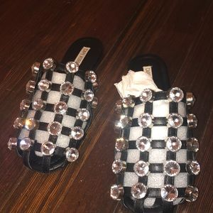 Cape Robbin bedazzled sandals